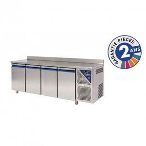 ARMOIRE RÉFRIGÉRÉE Table réfrigérée positive - 4 portes avec dosseret
