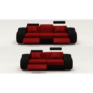 canap de relaxation rouge achat vente canap de relaxation rouge pas cher soldes d. Black Bedroom Furniture Sets. Home Design Ideas