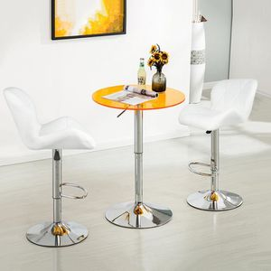TABOURET DE BAR LOT DE 2 TABOURET DE BAR BLANC TABOURET EN SIMILI
