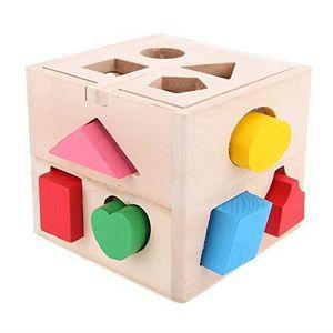 TÉLÉPHONE JOUET Cube De Tri De Formes,Boite a Forme Bois Avec 13 f
