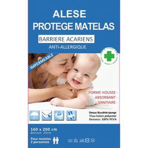 PROTÈGE MATELAS  Alése  (160X200)  protège-matelas Imperméable  Ant