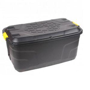 BOITE DE RANGEMENT Box de Rangement Noir en Plastique Rigide POLYCARB