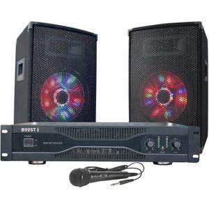 PACK SONO BOOST 15-2014BO Kit de sonorisation disco avec ani