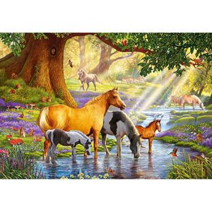 PUZZLE Puzzle 1000 pièces Horses by the Stream