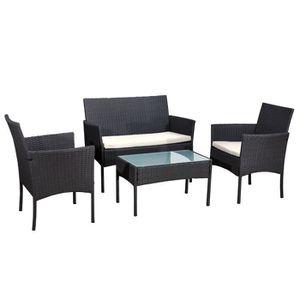 Ensemble table et chaise de jardin HAPPY GARDEN Salon de jardin CORDOUE - 4 places -
