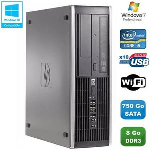 UNITÉ CENTRALE  PC HP Compaq Elite 8100 SFF Intel Core i5 650 3.2G