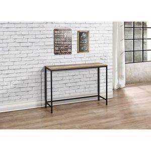 CONSOLE Leshp®Table Console meuble rectangulaire en bois-