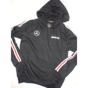 09a37c2b362 SWEATSHIRT SWEAT CAPUCHE MERCEDES AMG NOIR jogging survetemen