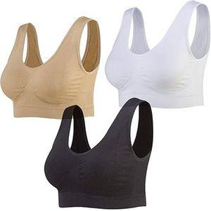 SOUTIEN-GORGE 3pcs Soutiens-Gorge de Sans Couture Femme Sport Yo