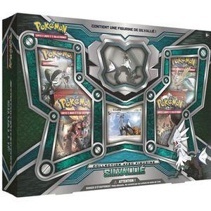 CARTE A COLLECTIONNER Coffret Pokémon 4 Boosters - Silvallié avec figuri