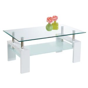 Table basse blanche rectangulaire achat vente table - Table basse blanche rectangulaire ...