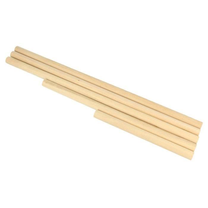 Baguette en bois Tourillon Pour Macramé 5 pièces - Artémio Beige