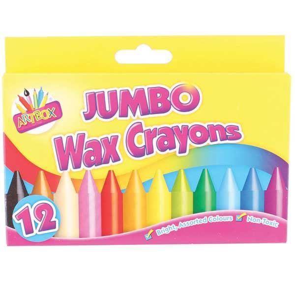 12 crayons de cire Jumbo