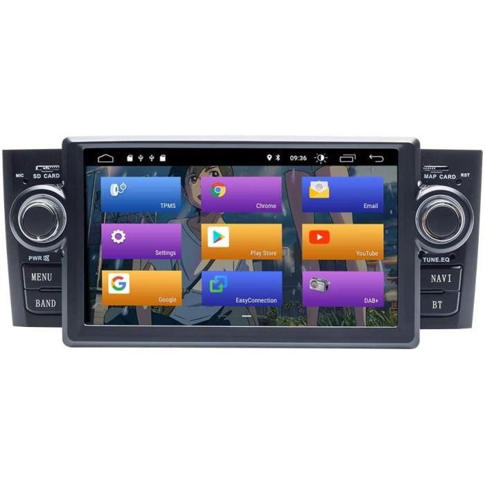 BOOYES pour Fiat Grande Punto Linea 2007-2012 Android 10.0 Double Din 7- Voiture Multimédia GPS Navigation Auto Radio Stéréo Voiture