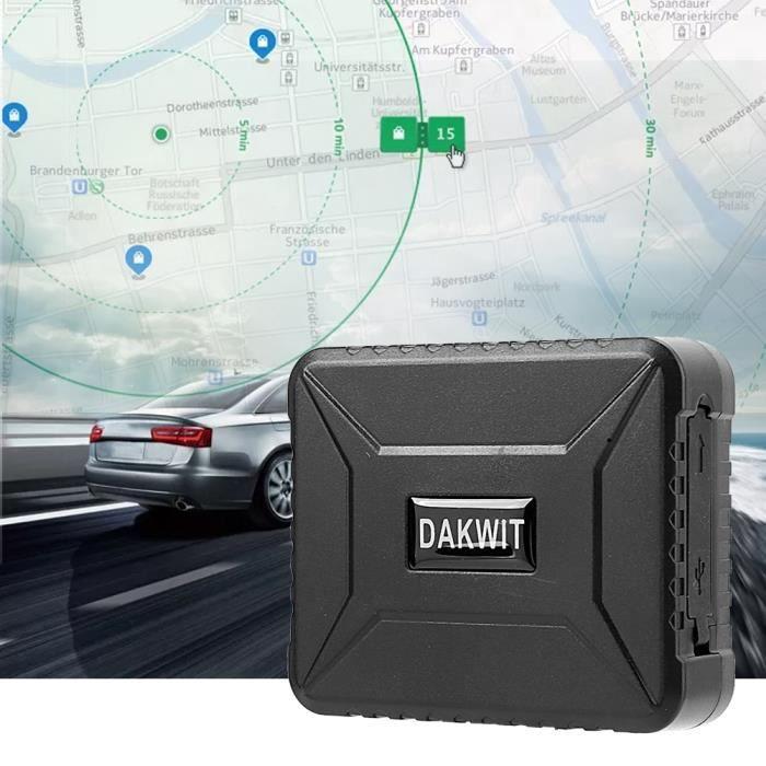 Cyanshop® DTK800B 6600mAh GPS Localisateur GSM GPRS Dispositif suivi en temps réel pour moto de voiture alarme de vibration