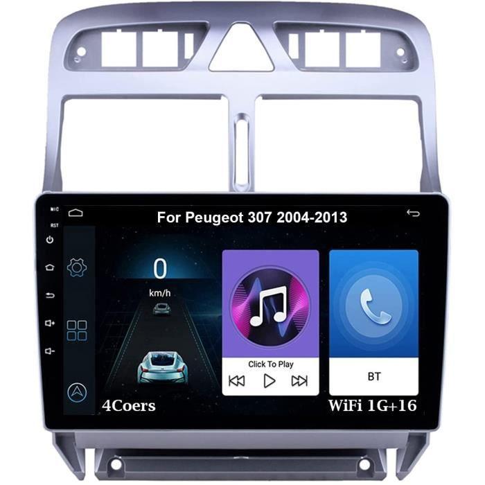 Autoradio 9 Inch Écran Tactile Voiture Multimédia Android Auto Pour Peugeot 307 2004-2013 Voiture Plug And Play Prend En Charge 520