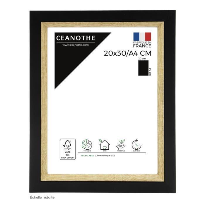 Cadre photo Actual bois noir 20x30-A4 cm