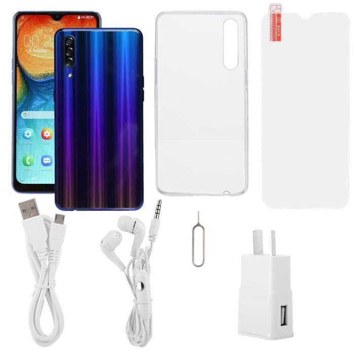 A50 6.26 pouces Face Identification des empreintes digitales Écran de goutte d'eau Téléphone mobile intelligent 100-240V (AU)