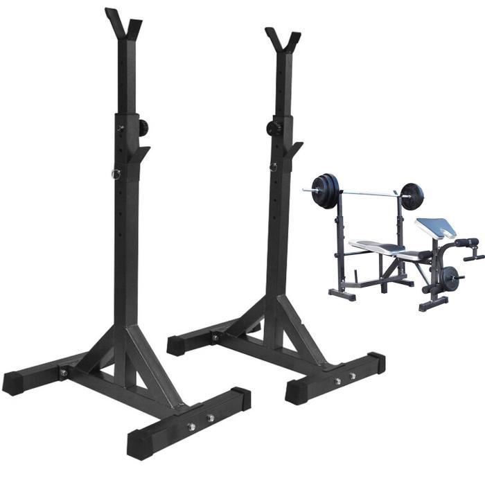 Squat rack de puissance stand gym formation barbell réglable durable
