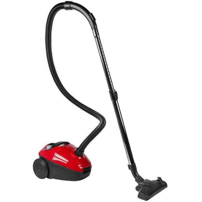 MEDION® Aspirateur (MD 17971), Rouge-noir, Puissance d'aspiration 140 W, câble 5 m, classe A