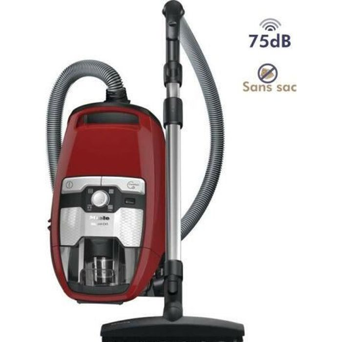 EXCELLENCE ASPIRATEUR TRAINEAU SANS SAC BLIZZARD CX1 ECOLINE - 75 DB - ROUGE