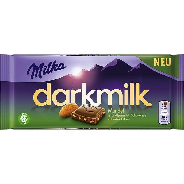Milka Darkmilk Amande Chocolate 85g (Pack de 10)