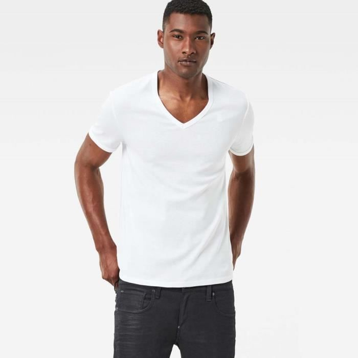 Vêtements homme T-shirts G-star Base Ribbed V Neck S/s 2-pack Premium 1 By 1