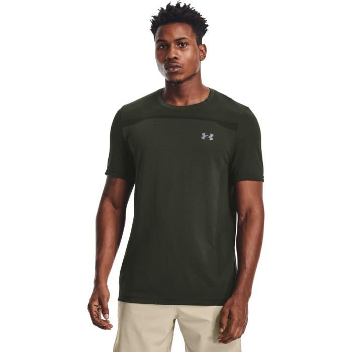 T-shirt Under Armour à manches courtes Seamless - vert baroque/gris mod - S