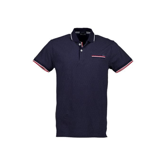 DEELUXE Polo manches courtes à pois SLICE Navy