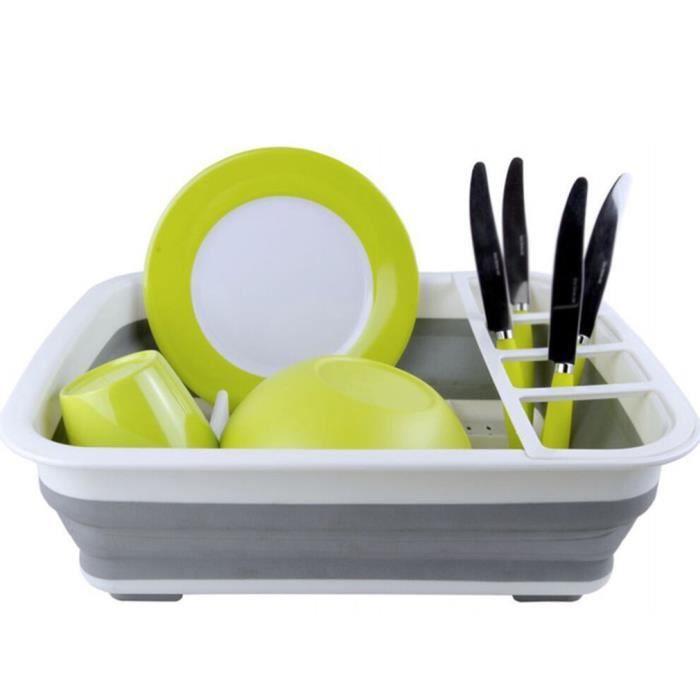 Égouttoir à vaisselle pliable et pliable réutilisable 37.6*29.3*5CM blanc