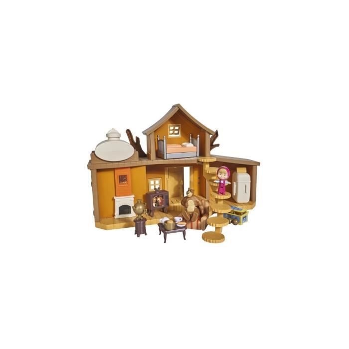 Maison hutte de Michka avec sons + figurines + accessoires - Masha & Michka