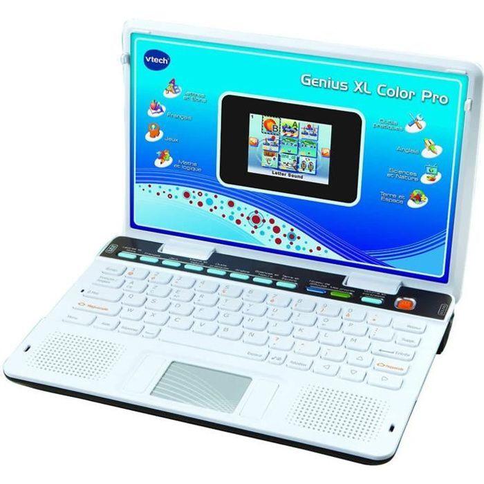 mini ordinateur portable avec 90 activités pour enfant Genius Xl Color Pro blanc noir