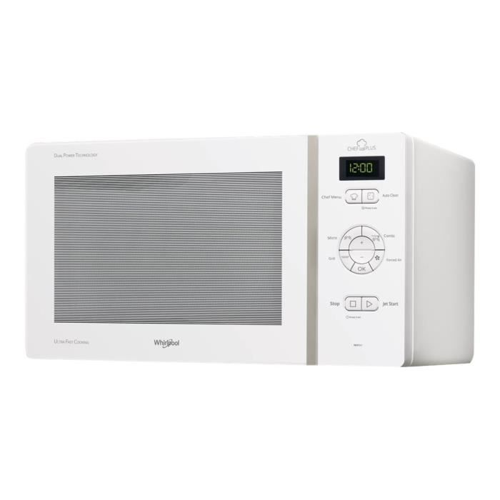 Whirlpool MCP 347 WH - Four micro-ondes combiné - grill - pose libre - 25 litres - 800 Watt - blanc