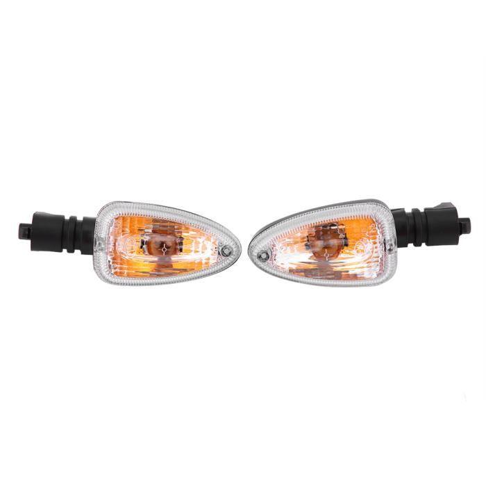 Nouveau Paire de Clignotants Moto Lampe Clignotante Direction pour BMW F800 Transparent