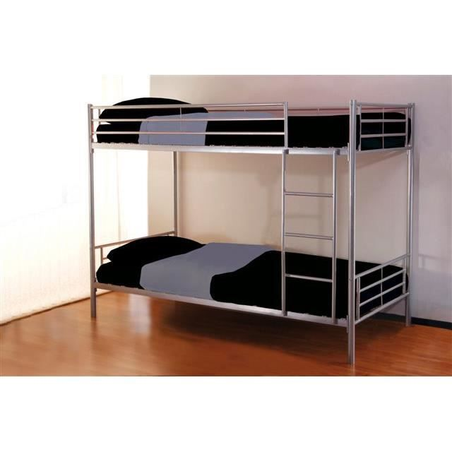 lit superpos 2 places achat vente lits superpos s cdiscount. Black Bedroom Furniture Sets. Home Design Ideas