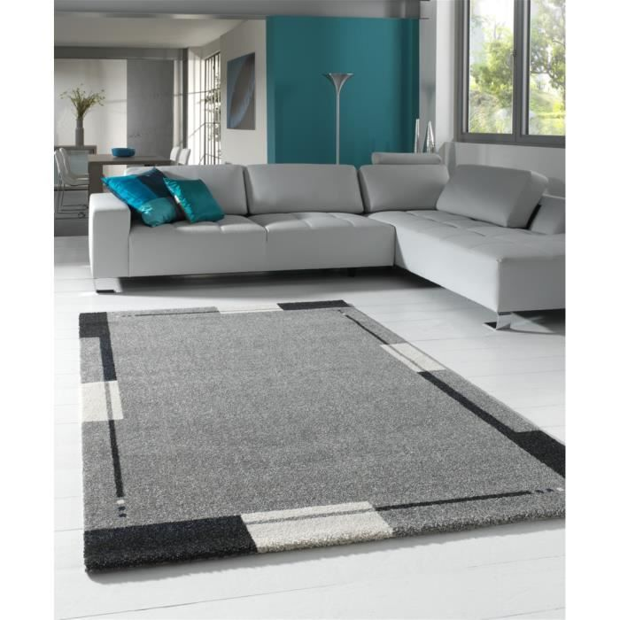 tapis de salon gris flume 200 x 290 achat vente tapis cdiscount. Black Bedroom Furniture Sets. Home Design Ideas