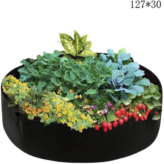 2 Pcs Sacs /à Plantes Rectangulaires L/égumes Cultiver Sacs /à Plantes Feutre pour Fleurs L/égumes Tomates Pommes de Terre Carotte Fraise