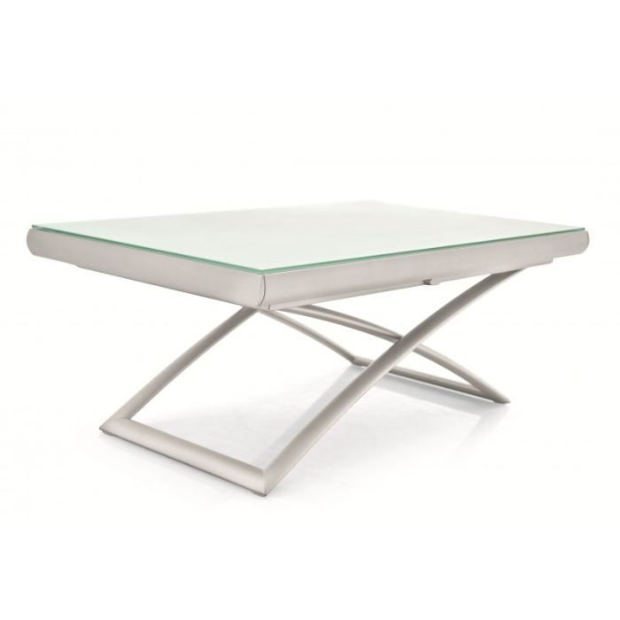 Table relevable extensible dakota en verre trem achat - Table relevable verre ...
