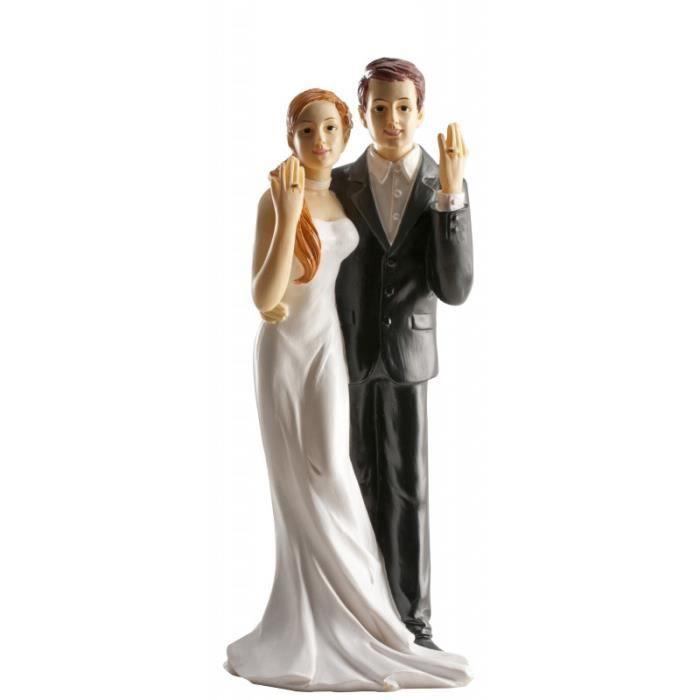 Figurine Mariage Noir