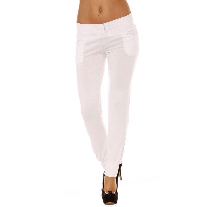 PANTALON Miss Wear Line - Pantalon fluide blanc