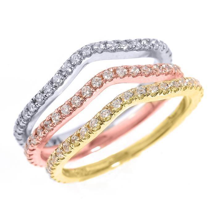 bague or femme 3 anneaux