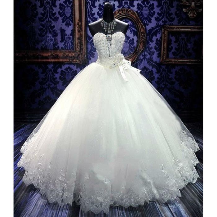 Robe de mariee princesse strass - Achat /