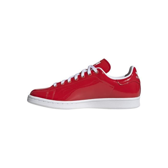 Basket adidas Originals STAN SMITH - G28136 Rouge - Achat ...