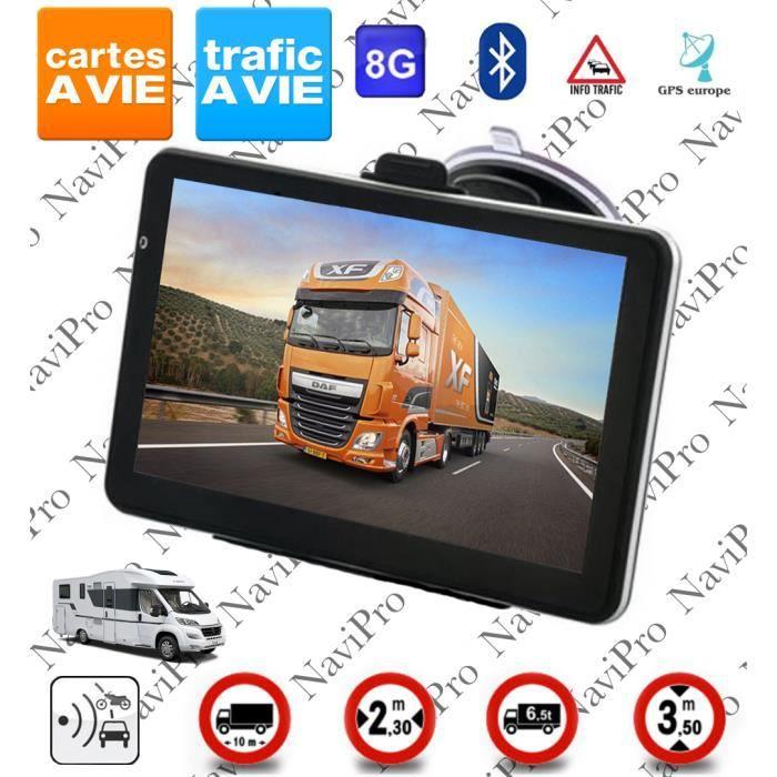 7 in Android Appareil De Navigation avec caméra de recul pour camion voiture camping car bus