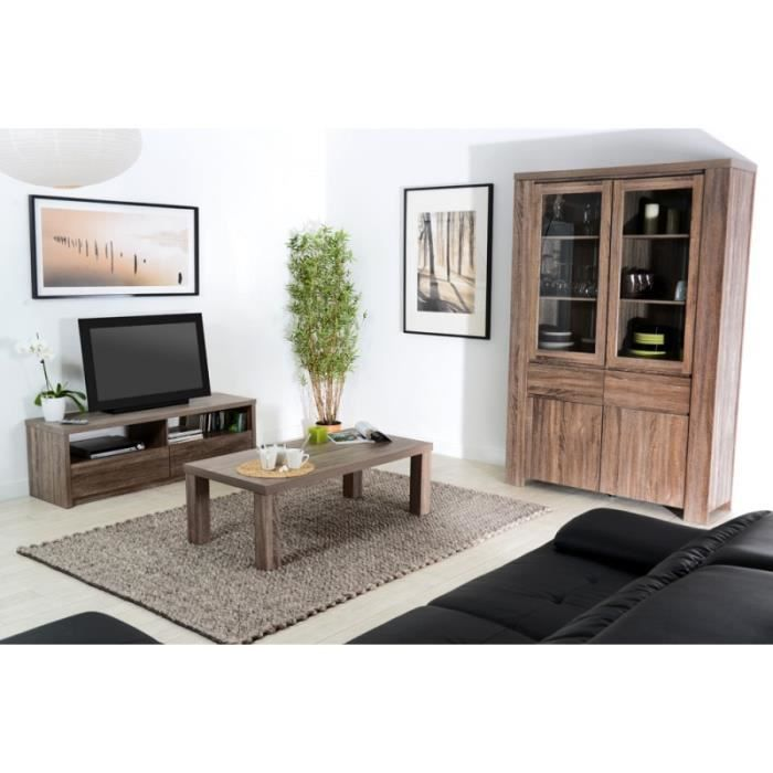 ensemble meuble tv et table basse campagne en c achat vente ensemble meubles de salon. Black Bedroom Furniture Sets. Home Design Ideas