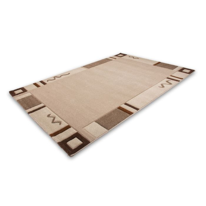 tapis 80x150 beige achat vente tapis cdiscount. Black Bedroom Furniture Sets. Home Design Ideas