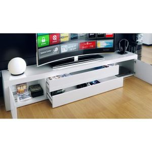 meuble tv 200 cm achat vente meuble tv 200 cm pas cher cdiscount. Black Bedroom Furniture Sets. Home Design Ideas