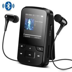 LECTEUR MP3 Lecteur Mp3 Bluetooth 4.0 avec Clip 8Go Mini Balad
