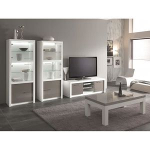 Ensemble meuble tv table de salon achat vente ensemble for Ensemble salon blanc