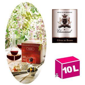 VIN ROUGE BIB 10L - AOC Côtes de Bourg 2015 - Chamvermeil
